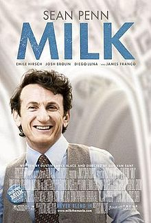 Milk is a compelling biographical film about Harvey Milk, the first openly gay person to be elected to public office in California. Sean Penn was magnificent in this movie, and ended up winning an Oscar for his portrayal of Harvey Milk.