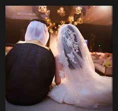 No photo description available. Arab Wedding, Wedding Couples, Wedding Bride, Muslim Wedding Dresses, Wedding Dress With Veil, Cute Muslim Couples, Couples In Love, Prom Photos, Wedding Photos