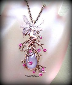 Spring Fairy Lavender Chalcedony Antiqued Gold Filigree