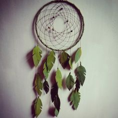 """7"""" Jungle Boogie Dream Catcher with paper leaves"""