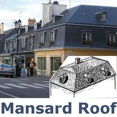 A mansard roof is roughly a hybrid of a flat roof and a for Hip roof advantages and disadvantages