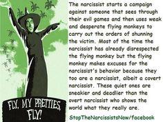 Flying monkey narcissist