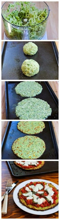 Favorite Recipes: Zucchini-Crust Vegetarian Pizza