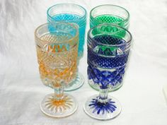Wexford by Anchor Hocking wine glasses upcycled with by betsstuff, $24.00