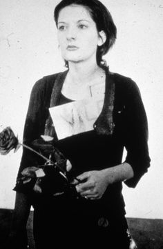 Marina Abramović, Rhythm 0, 1974,  performance with assorted objects and audience