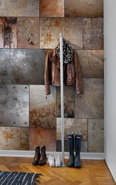 Wall Mural Steel image 2 by Rebel Walls Interior Walls, Interior Design Living Room, Industrial Wallpaper, Steel Wall, Steel Metal, Decoration Inspiration, Wall Finishes, Wall Wallpaper, Textured Walls
