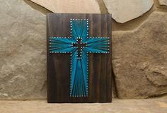 Custom Wood Cross Religious String Art Home Decor por hwstringart
