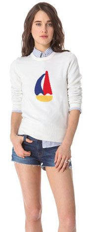 Boy by Band of Outsiders, Sailboat Intarsia Sweater,
