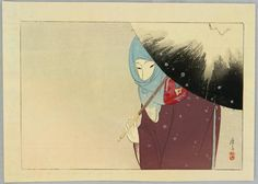 Snowy Day by Eisen Tomioka 1864-1905