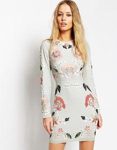 Image 1 of Needle & Thread Embellished Spring Floral Dress