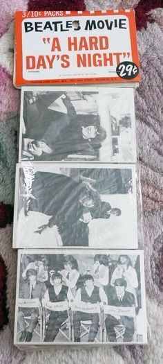 Beatles VERY RARE 1964 ' A HARD DAY'S NIGHT ' BUBBLE GUM CARDS RACK PACK!