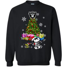 Oakland Raiders Ugly Christmas Sweaters Merry Christmas Snoopy Hoodies Sweatshirts