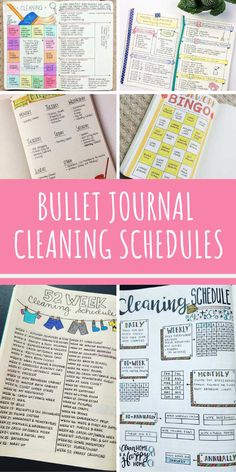 25 Bullet Journal Cleaning Schedule Spreads {to turn you into a domestic goddess!} - Home Cleaning Schedule Deep Cleaning Tips, Cleaning Checklist, Cleaning Solutions, Cleaning Hacks, Cleaning Schedules, Cleaning Schedule Printable, Speed Cleaning, Daily Cleaning, Homemade Toilet Cleaner