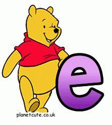Coleccionando Gifs animados: Abecedario de Pooh