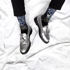 DOC'S & SOCKS: The Metallic Adrian Loafer. Shared by cesar.barrenechea.