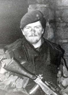SIMON WESTON BEFORE HIS HORRIFIC INJURIES IN THE FALKLANDS WAR.