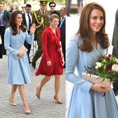 The Duchess of Cambridge with Princess Stephanie at Musze d'Art Moderne