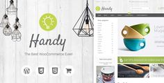Buy Handy - Handmade Shop WordPress WooCommerce Theme by transparentideas on ThemeForest. Handy – Handmade Shop WordPress WooCommerce Theme is a stylish responsive and easy to use WordPress theme. Website Design Inspiration, Design Blog, Web Design, Best Website Templates, Ecommerce Template, Themes Free, Custom Fonts, Website Themes, Blogger Templates