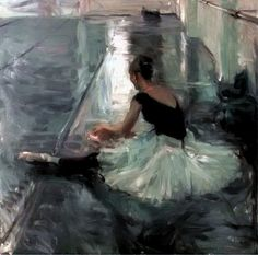 Dancers in Silvers and Greys by Quang Ho   via books0977.tumblr.com