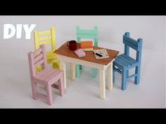 Barbie Furniture Diy Popsicle Sticks Doll Houses 19 Ideas For 2019 Diy Barbie Furniture, Trendy Furniture, Furniture Ideas, Diy Popsicle Stick Crafts, Popsicle Sticks, Miniature Furniture, Dollhouse Furniture, Diy Miniature Dollhouse, Cream Bedroom Furniture