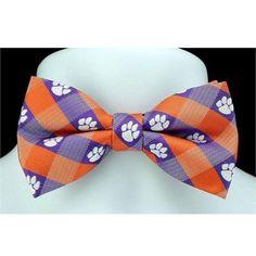 Clemson Checkered Bow Tie