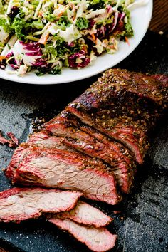 You need a Traeger and you really need to make this Brazilian smoked tri tip on a Traeger! The meat is tender, juicy and packed full of flavor! Tri Tip Steak Marinade, Tri Tip Steak Recipes, Steak Braten, Steaks, Traeger Recipes, Smoked Meat Recipes, Grilling Recipes, Tri Tip Traeger Recipe, Venison Recipes