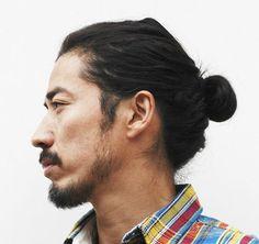 Asian Man with Bun