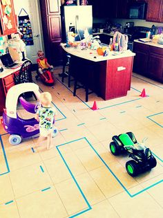 so wish I had a big enough kitchen to do this for the boys - they would love it! Maybe the garage???