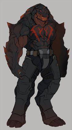 Jorgul Staika is an old, friendly krogan that has stopped caring about shirts! He is also a good friend of Xern's and helps the turian out with salvage hauls. (You'll have to forgive me putting BEEF AND ABS on all aliens I KNOW IM THE WORST. Alien Concept Art, Creature Concept Art, Creature Design, Fantasy Monster, Monster Art, Alien Creatures, Fantasy Creatures, Alien Character, Character Art