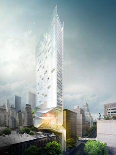 hybrid residential tower in New York