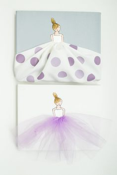 Kleine Prinzessin in Polkadots hand Bemalte von ShenasiConcept