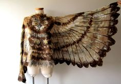 https://flic.kr/p/wZFqM7 | Nuno felted shawl - Owl wings