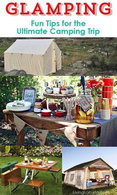 Glamping - Fun Tips for the Ultimate Camping Trip! If you want to discover camping in a more luxurious way, then this is for you!