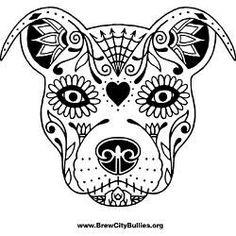 sugar skull dog - Google Search
