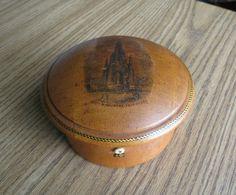 Antique Mauchline Ware Sewing Thread Box Scott Monument Edinburgh   eBay