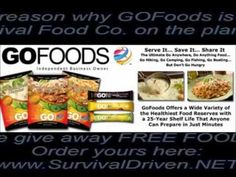 FREE Survival Food from GoFoods Global http://FoodsforSurvival.NET  $40 Free Sample Pack to introduce you to GoFoods, long term storable food experts with the most delicious and easy to prepare nutrition for your family. No Genetically Modified Ingredients! Made in USA! Check out our full product line: http://FoodsForSurvival.COM    Come Join Us ~...