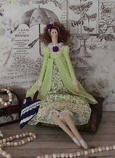 Tilda Puppe Stoffpuppe Dekopuppe Landhaus Shabby ca 47 cm Handarbeit Deko Neu