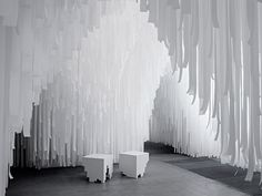 COS X Snarkitecture installation at Milan 2015 - polymer as the base to create structure