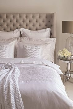 Create a hotel chic bedroom with just a few indulgent tricks.