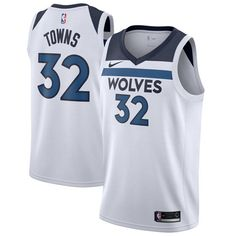 de846c5328a Nike Timberwolves  32 Karl-Anthony Towns White Youth NBA Swingman  Association Edition Jersey Karl