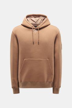 Mackage neoprene hoodie 'Krys' light brown Hoodies, Brown, Winter, Clothing, Sweaters, Fashion, Hoodie, Get Tan, Winter Time