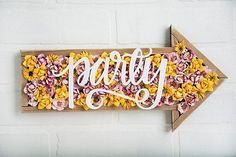 """775 Likes, 12 Comments - Cricut - Your Secret Weapon! (@officialcricut) on Instagram: """"This way to the weekend. ➡️➡️➡️ @natalme created this party sign and we are just over here like…"""""""