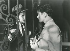 "Robert Walker & Farley Granger, ""Strangers on a Train"" Farley Granger, Robert Walker, Stranger And Stranger, Light Film, Dark City, Alfred Hitchcock, Cinematography, Train, Stars"