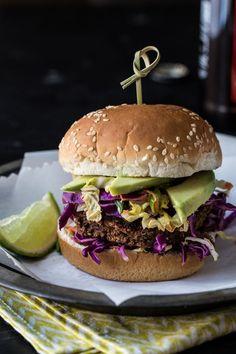 Jamaican Jerk Veggie Burgers #veggie #burger #recipe