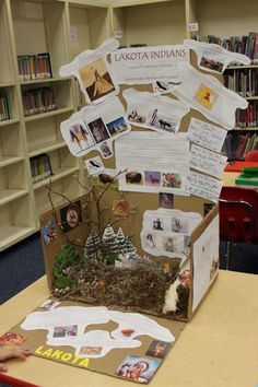 the project our son, Abdalla, made for his Lakota Indian project Native American Projects, Native American Models, Native American Indians, Native Americans, History Projects, Science Projects, School Projects, Projects For Kids, Social Studies Projects