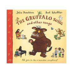 El Gruffalo canción y Otras Canciones. El Gruffalo es una figura conocida y muy querida en guarderías, escuelas y hogares de todo el mundo. Ahora regresa en su propia canción para ofrecer sesiones de música monstruo! Además de ser la imagen más exitosa de la autora Julia Donaldson, es también una compositora muy talentosa para los niños, y este volumen contiene diez de sus canciones más queridas cantadas por la propia autora.