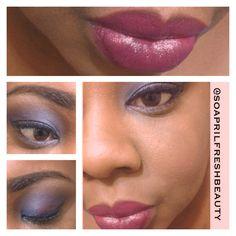 Milani Cosmetics Color Statement Lipstick in Sangria ~ Coastal Scents Hot Pots: Platinum Blue, Magenta, Deep Roast, Chamois Nude IG: @soaprilfreshbeauty