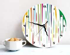 Wall clock dripping fresh paint bright round by ArtisEverything, $49.00