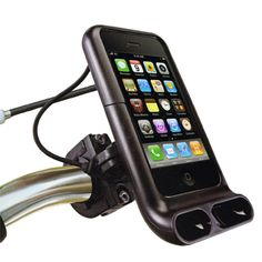 Although you would be hard pressed to find it on their site, the Ozaki iPod bicycle mount could be a nice addition to help make your commute on Ride Your Bike to Work Day enjoyable.  It's a bit pricey ($50) but for those who live by the iPod it appears to be a solid holder for your gadget.  Makes me want to go out and get one (an iPod that is) and ride my bike.  Or maybe not.