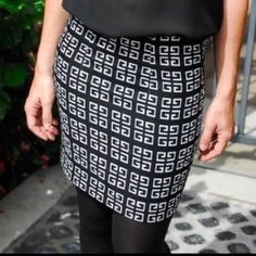 """Host Pick RELISHED Geo Shift Skirt Crisp black and white geometric design is timeless! Mini skirt is made of 100% polyester. The brand is Relished and the quality is great! This is brand new, never worn, still in manufacturers packaging. Please refer to size chart when purchasing. (Runs small) Photos courtesy of Relished. AVAILABLE IN L and XL """"Best In Retail"""" Host Pick Relished Skirts Mini"""